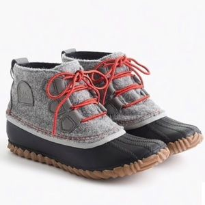 SOREL X J CREW | Out N' About Duck Boots Rain 6.5